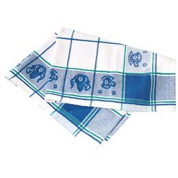 HYGOSTAR Küchentuch LANDHAUS, Baumwolle, weiß/blau