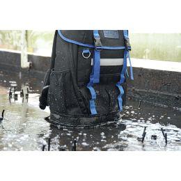 HEYTEC Werkzeug-Rucksack, unbestückt, Farbe: schwarz/ blau