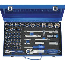 HEYTEC Steckschlüsselsatz, bestückt, 61-teilig