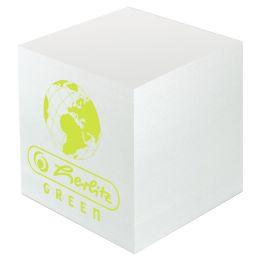herlitz Zettelklotz Green, 90 x 90 mm, weiss, 80 g/qm