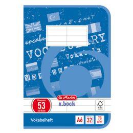 herlitz Vokabelheft x.book, DIN A6, 2-spaltig, 32 Blatt