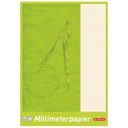 herlitz Millimeterpapier-Block DIN A4, 80 g/qm, 25 Blatt