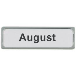 MAUL Magnetschild, Kunststoff, grau, Maße: 80 x 25 mm