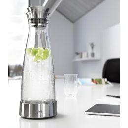 emsa Kühlkaraffe FLOW CLASSIC, 1,0 Liter, Glas/Edelstahl