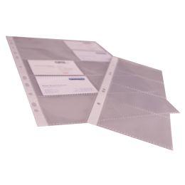 proOFFICE Visitenkarten-Hülle, DIN A4, PP-Folie, transparent