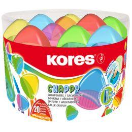 Kores Doppel-Spitzdose Snappy Duo, Runddose, sortiert