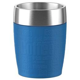 emsa Isolierbecher TRAVEL CUP, 0,20 L., Manschette blau