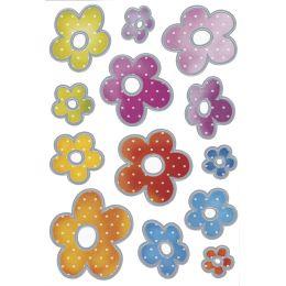 HERMA Sticker DECOR Blumen Silberprägung