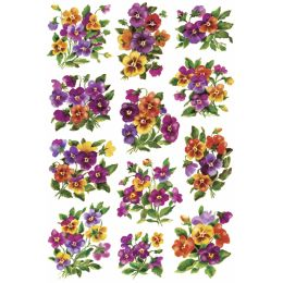 HERMA Sticker DECOR Veilchengestecke, beglimmert