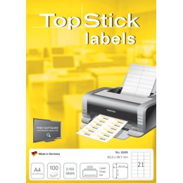 TOP STICK Universal-Etiketten, 105 x 37 mm, weiß, 100 Blatt