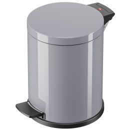 Hailo Tret-Abfalleimer Solid M, 12 Liter, silber