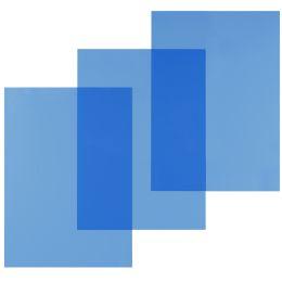pavo Einbanddeckel, DIN A4, PVC, blau transparent, 0,20 mm