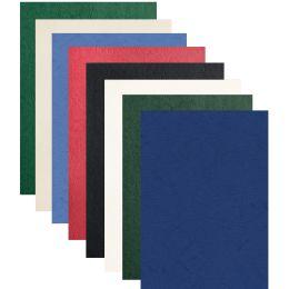 pavo Einbanddeckel, Lederstruktur, DIN A4, dunkelgrün