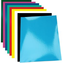 pavo Einbanddeckel Chromolux, glänzend, DIN A4, schwarz