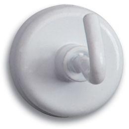 MAUL Kraftmagnet mit Haken, Durchmesser: 25 mm, weiß