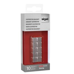 sigel Neodym-Design-Magnete Strong C5, 10er Set, silber