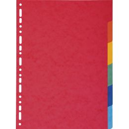 EXACOMPTA Karton-Register, DIN A4 Überbreite, 6-teilig