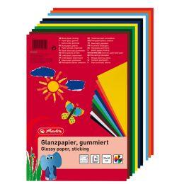 herlitz Glanzpapier, 200 x 300 mm, Inhalt: 10 Blatt