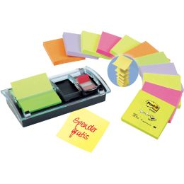 Post-it Z-Notes Spender, schwarz/transparent, Vorteilspack
