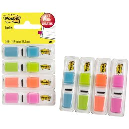 Post-it Haftmarker Index, 11,9 x 43,2 mm, 4er Spender