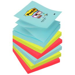 Post-it Haftnotizen Super Sticky Z-Notes, 76 x 76 mm, Miami