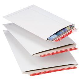 ColomPac Versandtasche, aus weißer Vollpappe, DIN A4+