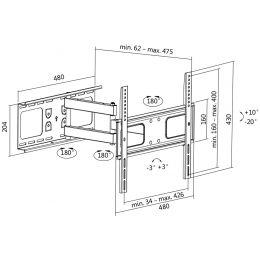 LogiLink TV-Wandhalterung Full Motion, für 81,28 - 139,7 cm