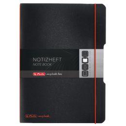 herlitz Notizheft my.book flex, A6, PP-Cover, schwarz