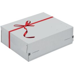 ColomPac Geschenk-Versandkarton, Größe: S, rote Schleife