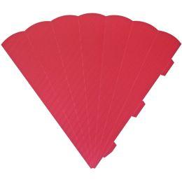 HEYDA Schultüten-Zuschnitt, 6-eckig, 69 cm, rot
