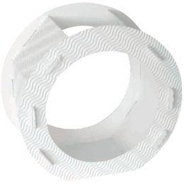 HEYDA Laternen-Zuschnitt, rund, groß, weiß
