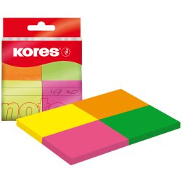 Kores Haftnotizen Multicolour, 40 x 50 mm, Neonfarben