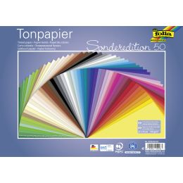folia Tonpapier, (B)250 x (H)350 mm, 130 g/qm, sortiert