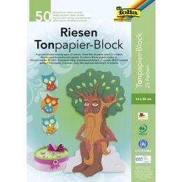 folia Riesen Tonpapierblock, (B)240 x (H)340 mm, 130 g/qm