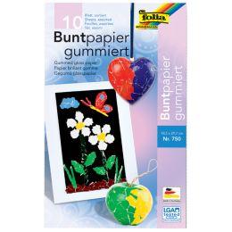 folia Buntpapiermappe, 185 x 297 mm, 10 Blatt