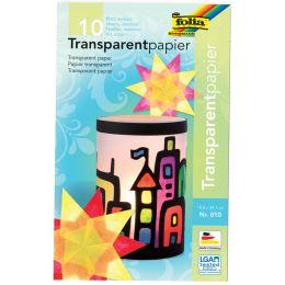folia Transparentpapiermappe, 185 x 297 mm, 10 Blatt