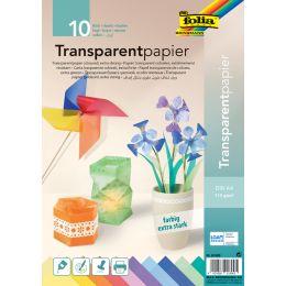 folia Transparentpapier, DIN A4, 115 g/qm, farbig sortiert