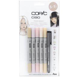 COPIC Hobbymarker ciao 5+1 Set, Hautfarben