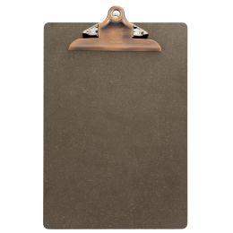 Securit Speisekarten-Klemmbrett, DIN A4, aus Holz, braun