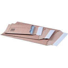 SMARTBOXPRO Versandtasche, aus brauner Wellpappe, DIN A4+