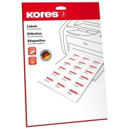 Kores Universal-Etiketten, 38 x 21,2 mm, weiß, 25 Blatt