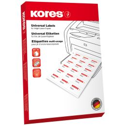 Kores Universal-Etiketten, 105 x 148 mm, ohne Rand, gr�n