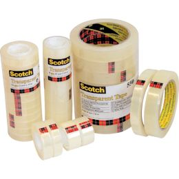 Scotch Klebefilm 550, transparent, 12 mm x 66 m, Folie