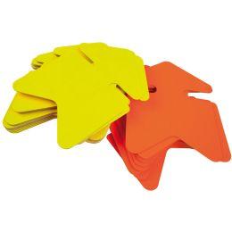 agipa Symbol-Etiketten Pfeil, gelb/orange, 120 x 160 mm