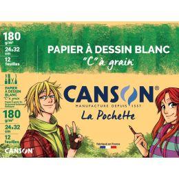 CANSON Zeichenpapier C à Grain, 320 x 240 mm, 180 g/qm
