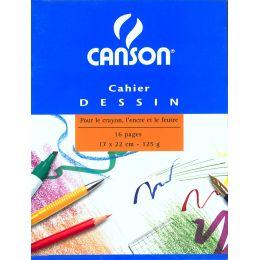 CANSON Zeichenblock, blanko, 125 g/qm, 170 x 220 mm