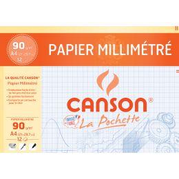CANSON Millimeterpapier, DIN A4, 90 g/qm, Farbe: blau