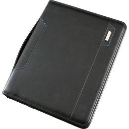 Alassio Tablet-PC Organizer A4 SALERNO, Lederimitat, schwarz