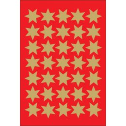 HERMA Weihnachts-Sticker DECOR Sterne, 16 mm, gold