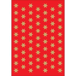 HERMA Weihnachts-Sticker DECOR Sterne, 8 mm, gold